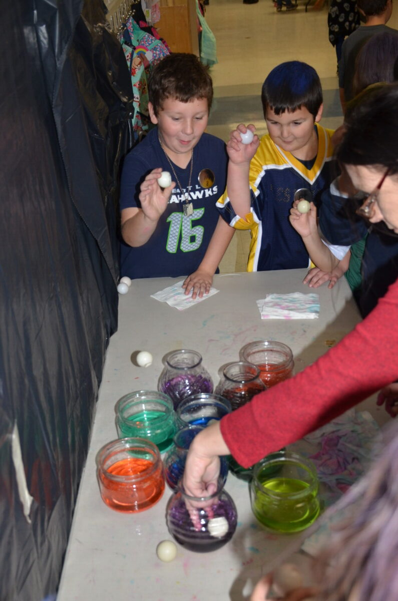 Students playing games at the Fall Festival